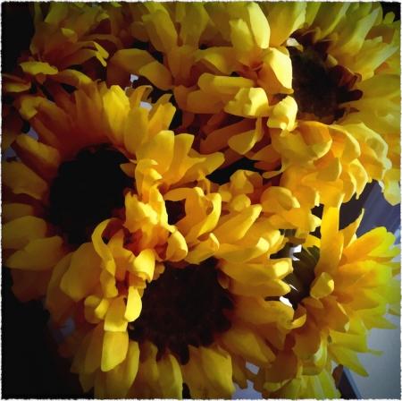 SunflowersOverpainted2GrainFrayed